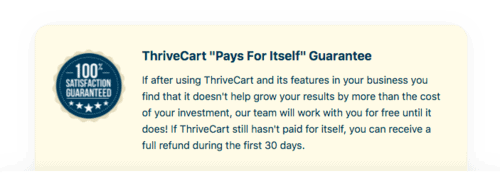"""ThriveCart """"Pays for Itself"""" Guarantee"""